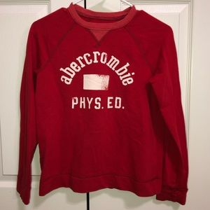 Abercrombie and Fitch Red Sweatshirt